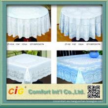 PVC blanco y oro mantel hecho en China