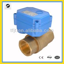 2way латунный Ду32 12В 2wires управления электрический шариковый клапан для стиральной машины автоматическая система управления