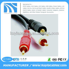 male to male 3.5mm to 2rca stereo AV Wire for computer/VCD/DVD/HDTV/MP3