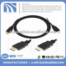 NOUVEAU PREMIUM NOIR Câble HDMI M / M Câble vidéo mâle AV Câble HDTV 5FT 1.5 m