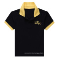 Schwarzes Männer Kontrastfarben-Polo-Shirt