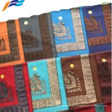 Bufanda de mujer llana de tela bordada india de alta calidad