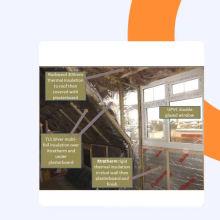 ruban de papier d'aluminium renforcé fsk avec SGS