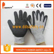 Cut Resistance Sandy Nitrile Dipping Safety Gloves Dcr440