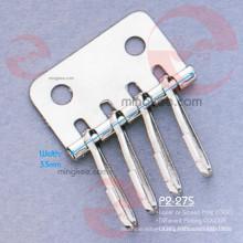 Shiny Nickel Metal Accessories of Key Holder Wallet (P2-27S)