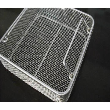 Medical 304 316 Stainless Steel Disinfecting Basket