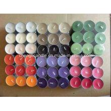 Vela Color Tealight com aromas diferentes