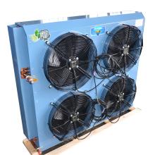 Condensador de refrigeração ar do permutador de calor de 4 motores de ventilador