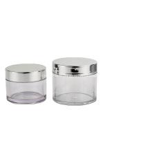 Pot cosmétique Pot de crème en verre transparent 100g