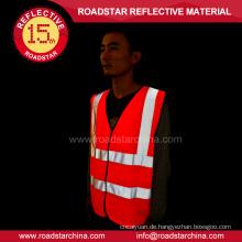 100 % Polyester Gelb Sicherheit reflektierende Warnweste
