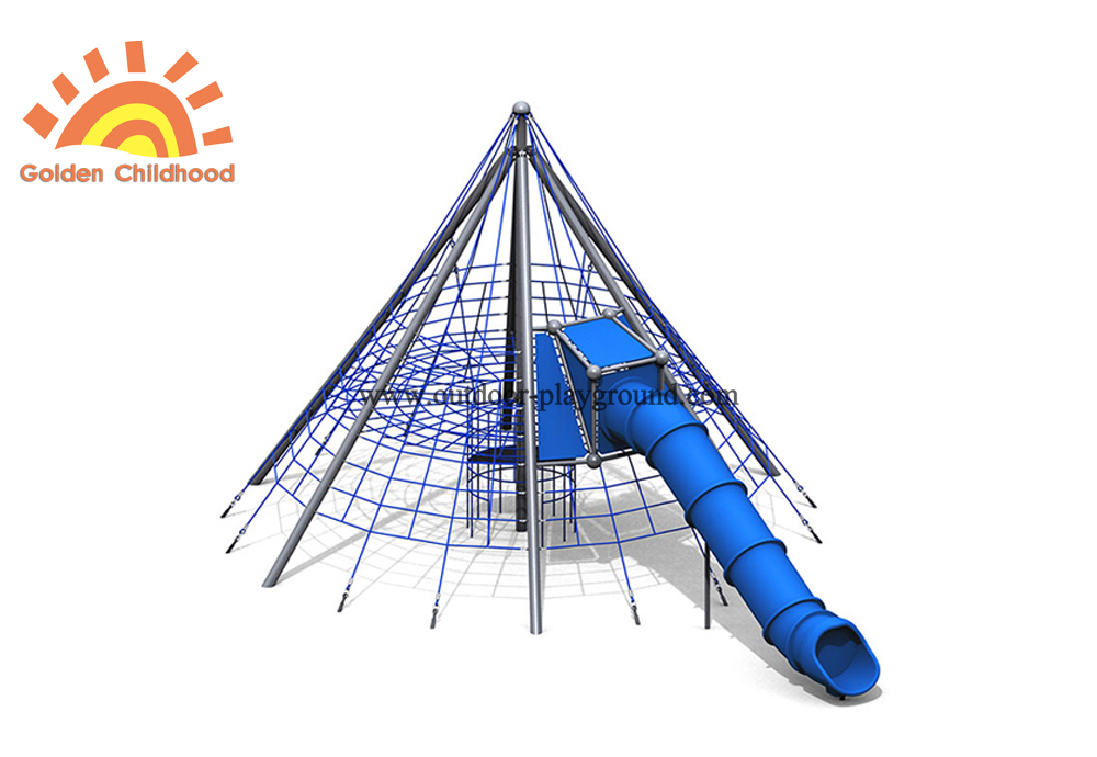 Backyard Indoor Playground With Tube For Kids
