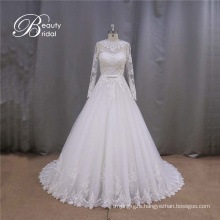 Latest Style A-Line Bridal Gowns Long Sleeve
