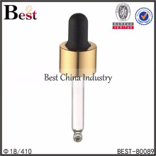 gold cosmetic dropper, cosmetic packing dropper, essential oil droppers