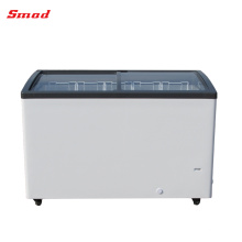 Supermarket Curved Glass Door Display Chest Freezer For Ice Cream