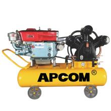 small petrol air compressor APCOM Petrol Air Compressor 6HP 8HP 10HP 16bar Portable Diesel Air Compressor