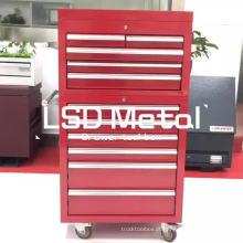 26 '' tamanho personalizado caixa de ferramentas de caminhão de aço inoxidável com gavetas e rodízios