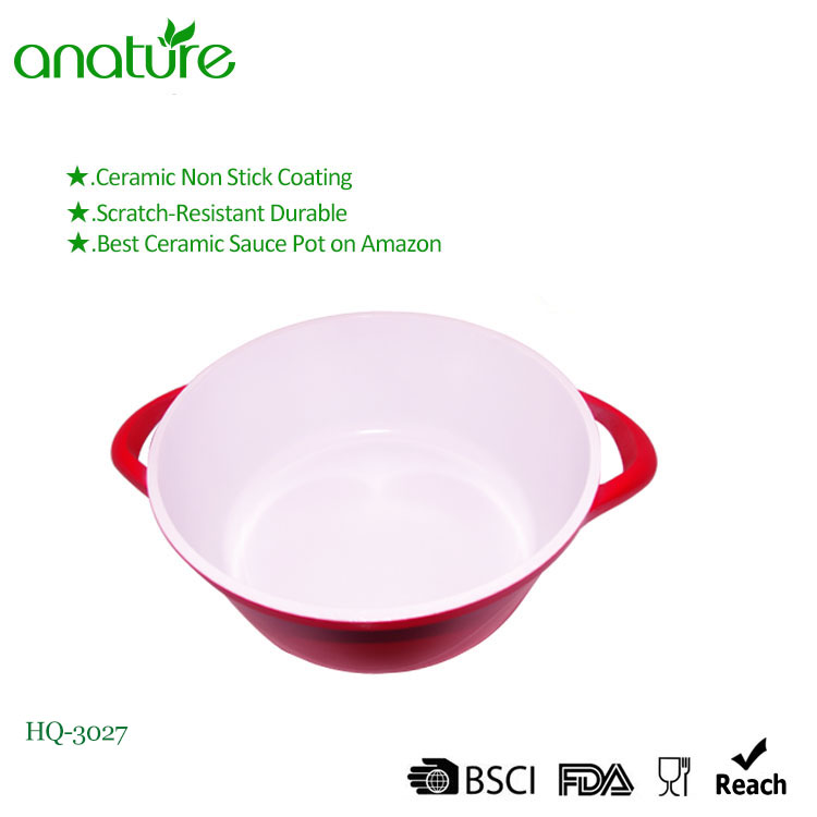 Die Casting Aluminum Red Induction Bottom Casserole
