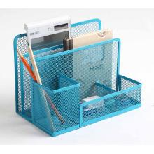 Metal Mesh Office Desk Organizer Stationery Holder