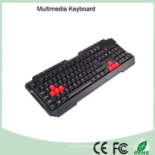 Laserdruck-wasserdichte Multimedia-PC-Tastatur (KB-1688-R)