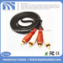 Gold Plated 2RCA TO 2RCA AUDIO CABLE 1.5M,3M,5M,10M,15M,20M