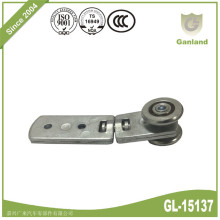 Rotatable double wheel side curtain steel roller