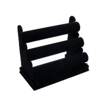 China Factory Wholesale 3 Tiers Velvet Watch Display Stand (WS-V3-BX1)