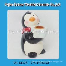 Cutely Keramik Pinguin Kerzenhalter