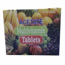 Tabletas multivitamínicas de acetato