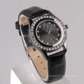 Relógio de relógio de relógio de relógio de couro PU relógio ocidental