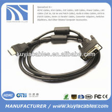 Câble adaptateur HD15 HDTV HDMI de 1 mètre 1,8 m avec câble VGA Câble adaptateur HD15