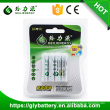 Geilienergy Brand Factory Direct 1.2V 800mah NIMH AAA rechargeable battery