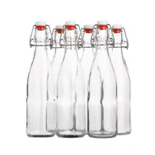 16oz 500ml flip top beer glass bottles clear Swing Top Brewing glass Bottle with Stopper