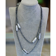 Moda Hemitate Barroco Perla Collar Joyas pulsera