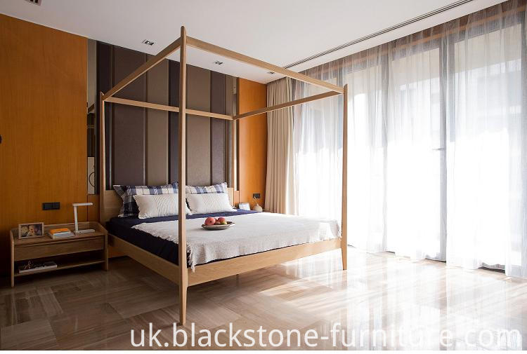 oak wooden bed