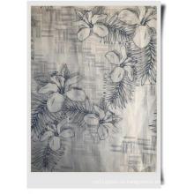 tela estampada de algodón ramio para prendas de vestir