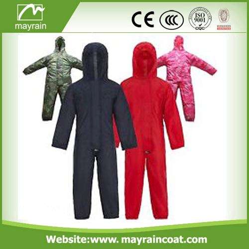 Good Quality Kids Polyester Rainsuit
