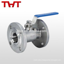 3 4 cf8m stainless steel flanged ball valve with butterfly handle