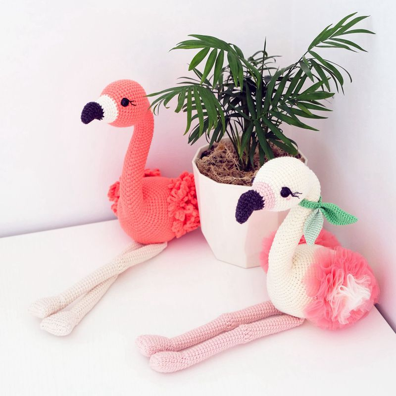 10 5 Crochet Flamingo