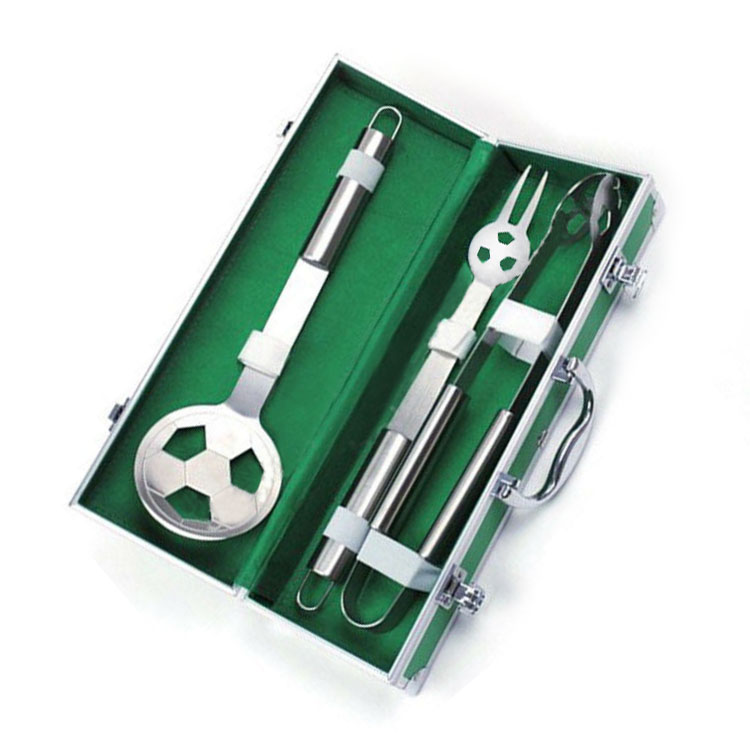 football bbq tools set