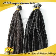 Новый продукт человеческих волос я наклоняю выдвижения волос оплетки для мода женщина