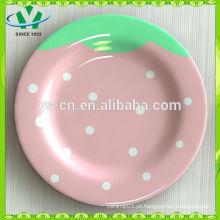 Atacado Crianças Dinnerware Ceramic Decorative Plate