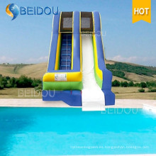 Diapositiva inflable inflable barata popular del agua