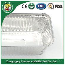 Contenedor de comida rápida disponible de aluminio de la venta caliente útil