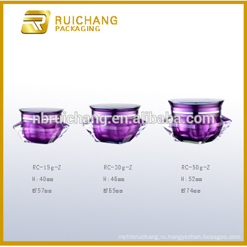 15г / 30г / 50г акриловая банка для крема, алмазная форма акриловая кремовая банка