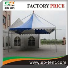 Tente de jardin en aluminium extérieur de luxe avec fenêtre en PVC pour fête
