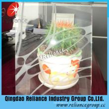 Klare dekorative Glas 4mm / 5mm / 6mm / Designed Glas / Seide Bildschirm Glas / bedrucktes Glas / Acid Glass