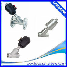 Válvula de assento de ângulo de aço inoxidável 2 / 2Way com atuador