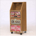 Multi color 3 drawers wood cabinet for barber shop
