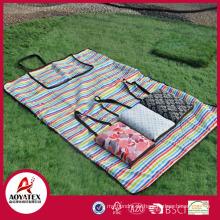Handtasche Stil 100% Baumwolle wasserdichte Picknickdecke im Freien