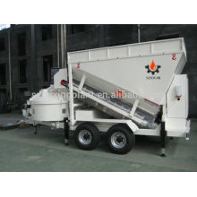 Small Mobile concrete mixer batching equipment perfect weighing system, 20-25m3/h